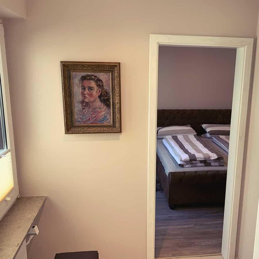 Sicht auf Schlafzimmer